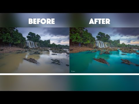 How To Change The Color Water | Photoshop Tutorial