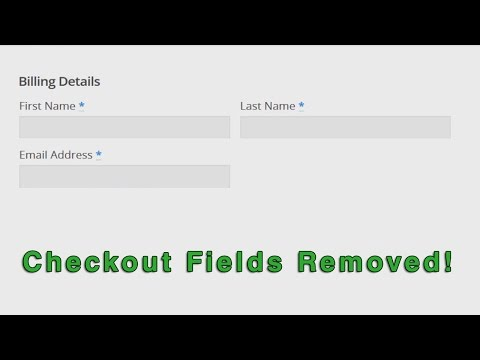 WooCommerce: How To Remove Checkout Fields - Easy!