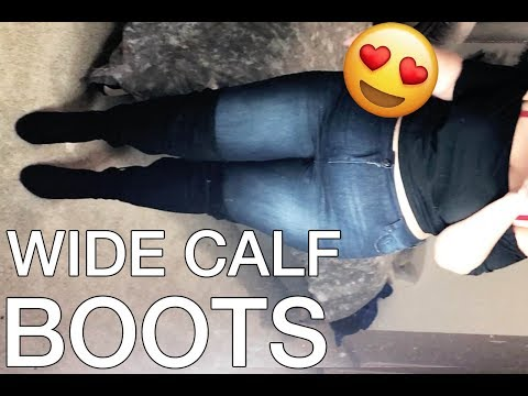 PLUS SIZE FASHION TRY ON HAUL | My FAVORITE wide calf boots | Sometimes Glam