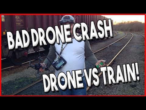 Drone crashes into train ! - So bad !! (NOT CLICK BATE!)