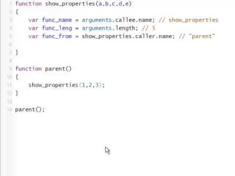 JavaScript Tutorial 8 - Accessing Function Properties From Within Function Body