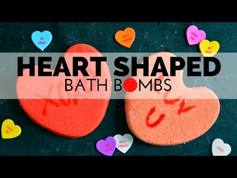 How to Make Conversation Heart Bath Bombs