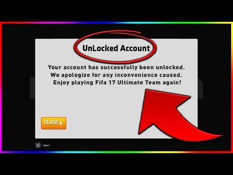 FIFA 17 | MY ACCOUNT GOT UNLOCKED - FIFA 17 HOW TO UNLOCK YOUR ACCOUNT (FIFA 17 LOCKED ACCOUNT FIX)