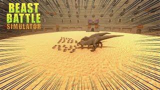 50 PINGUINS VS 2 T-REX.- Beast Battle Simulator