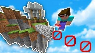 The NO BLOCK CHALLENGE! | Minecraft SKYWARS