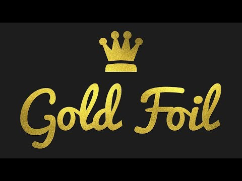 How to Create Gold Foil Text & Logo in Photoshop