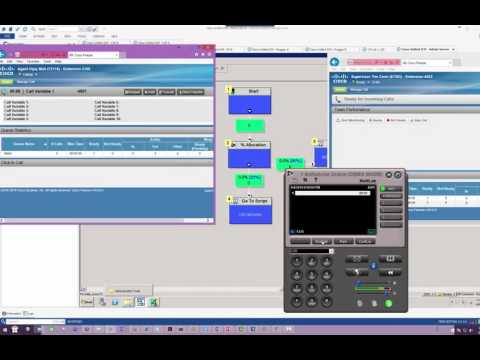 UCCE Scripting Lab 6   Develop a script to route calls to different CallCenter based on Percentage A