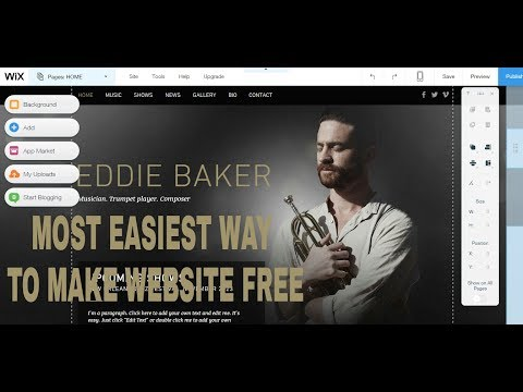 How to Make A Free Website - with Free domain + hosting - with - wix website developer