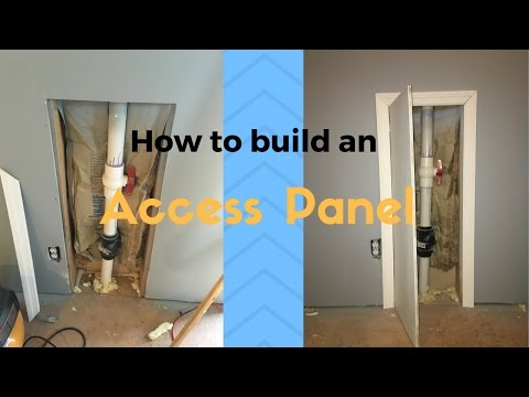 How to build an access panel