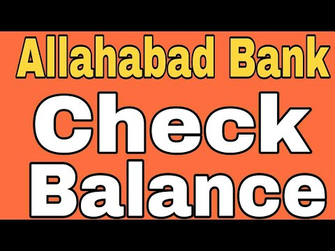 How To Check Allahabad Bank Balance By SMS And Missed Call From Home