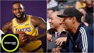 Why Denzel Washington called his accountant when LeBron signed with Lakers   OTL   ESPN