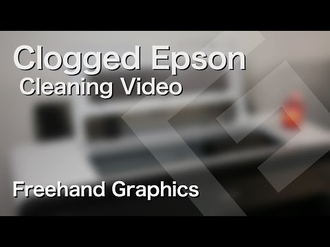 How to Clean a Severely Clogged Epson Print Head