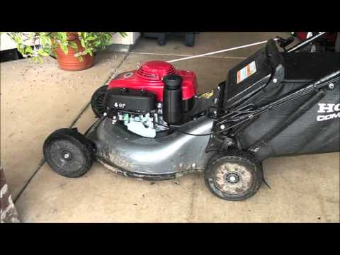 LAWNMOWER GOVENOR ADJUSTMENT: Honda Lawn mower REVS UP TOO MUCH or NOT ENOUGH?