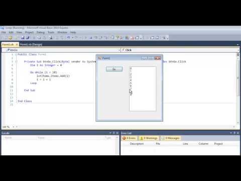 Visual Basic Do While Loop Tutorial Using a List Box - VB.NET Algorithm