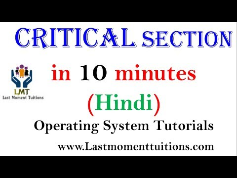 Critical  Section Problem in Operating System in Hindi | Operating System Tutorial s