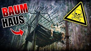 BAUMHAUS Im Dschungel Bauen 002 Unge Survival Challenge Bushcraft Camp Fritz Meinecke