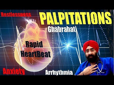 Palpitations Anxiety Ghabrahat Restlessness Rapid Irregular Heart Beat & Arrhythmia   Dr.EDUCATION