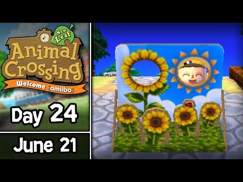 Animal Crossing: New Leaf, Day 24: Seriously Summer Solstice! • June 21 • Welcome amiibo Update