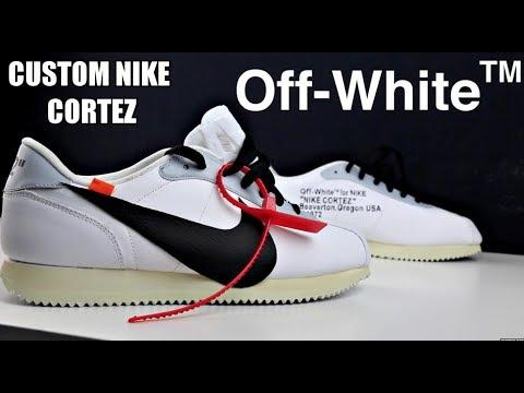 CUSTOM OFF WHITE X NIKE CORTEZ !!!