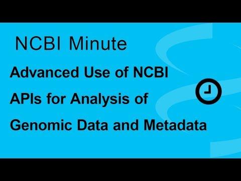 NCBI Minute: Advanced Use of NCBI APIs for High-Throughput Analysis of Genomic Data and Metadata