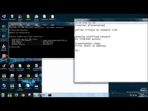 Network Troubleshooting: IP Conflict release and renewing IP address from DHCP