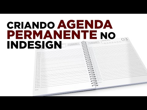 Criando agenda permanente no InDesign