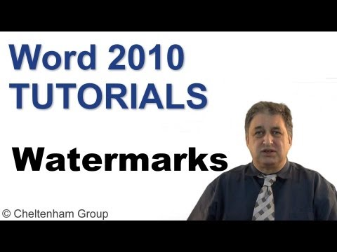 Word 2010 Tutorial | Using Watermarks | Full Course