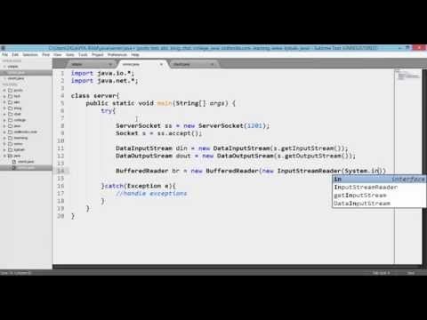 Chat application in java (client+server) sockets