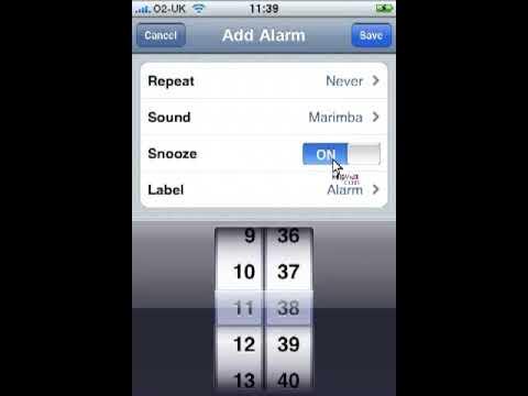 iPhone tutorials - Setting an alarm using the clock application