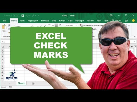Check Marks in Excel - Podcast 1180