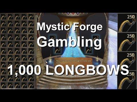 Mystic Forge Gambling 1,000 Longbows (rare)  |  Guild Wars 2