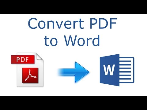 How to convert PDF to Word 2016 tutorial