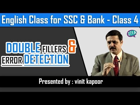 English Class for SSC/Bank-Class 4|Solving doublefillers & Error Detection|By Vinit Kapoor