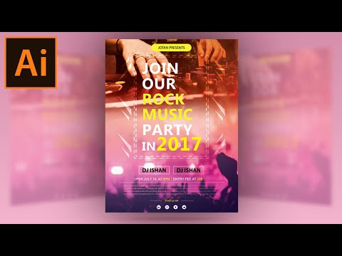 Illustrator Tutorial - Music Party Flyer Template