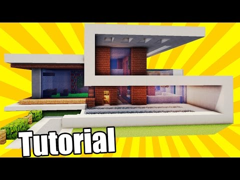 Minecraft: How to Build a Simple & Easy Modern House + interior / Tutorial