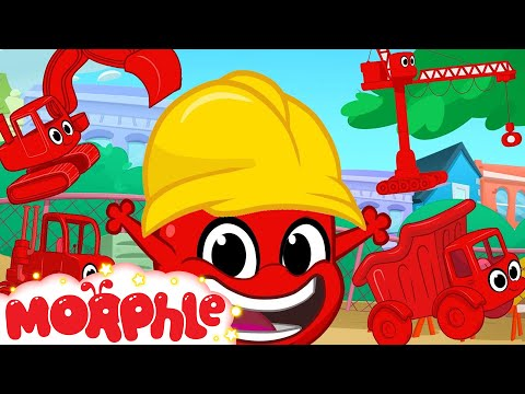 Morphle Loves Building! Morphle Shorts (+1 hour My Magic pet Morphle kids vehicle compilation)
