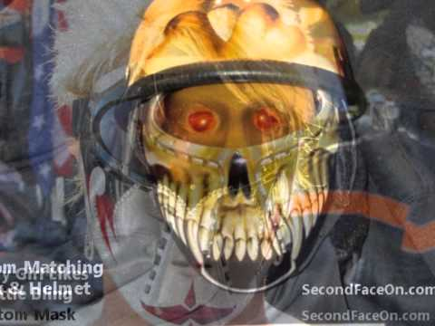 All Weather custom motorcycle plastic face mask