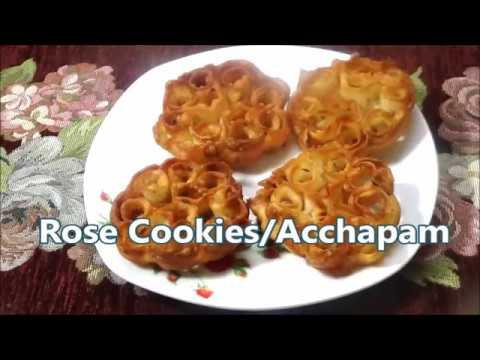 Rose Cookies Recipe/  Achappam Recipe Eggless)