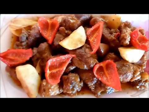 Pork Caldereta Pinoy style (Kalderetang Baboy)