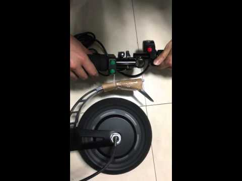 (L-faster) DIY electric kickscooter TOWN 7 use 350W brushless hub motor with e-brake and cruise