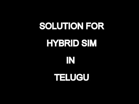 HYBRID SIM ADAPTER!! PERFECT SOLUTION FOR HYBRID SIM!!TELUGU EXPLAINED!!