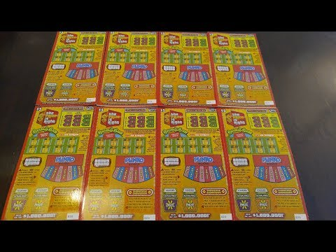 Florida Lottery - Scratch Offs - $1,000,000 Top Prize - $5 The Price is Right Tickets - 8 Scratched