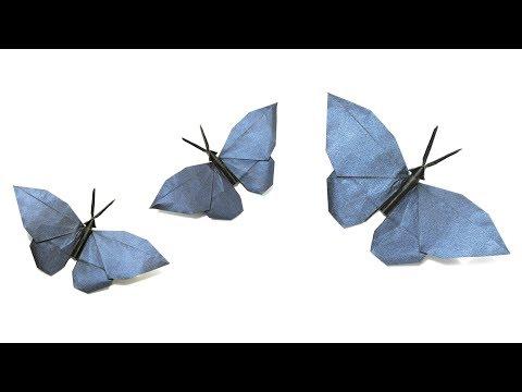 Origami Butterfly tutorial (Hideo Komatsu) 折り紙 蝶  оригами бабочка  Schmetterling  mariposa