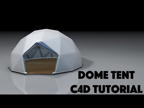 Geodesic Dome Tent C4D Tutorial Cinema 4D Mograph Cloner