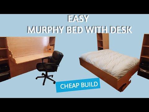 Murphy Bed Desk (Hidden Bed Desk) BedDeskPlans.com