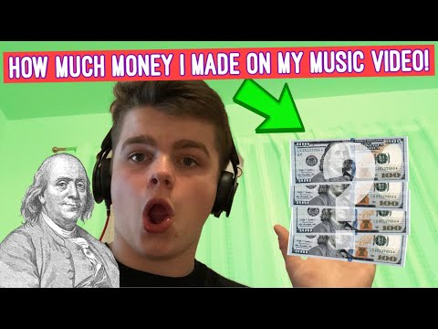 REVEALING HOW MUCH I MADE FROM MY MUSIC VIDEO!