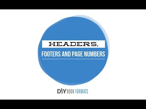 How to add headers, footers and page numbers (book formatting 4)