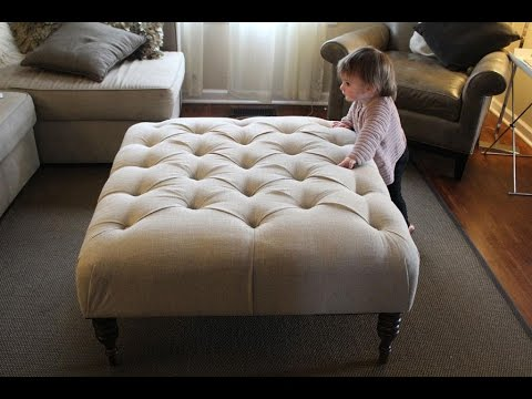 Diy Fabric Ottoman Coffee Table