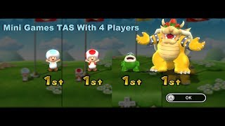 Mario Party 9 - Mini Games [TAS] With 4 Players