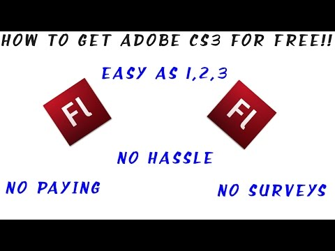 How To Get Adobe CS3 For FREE!!
